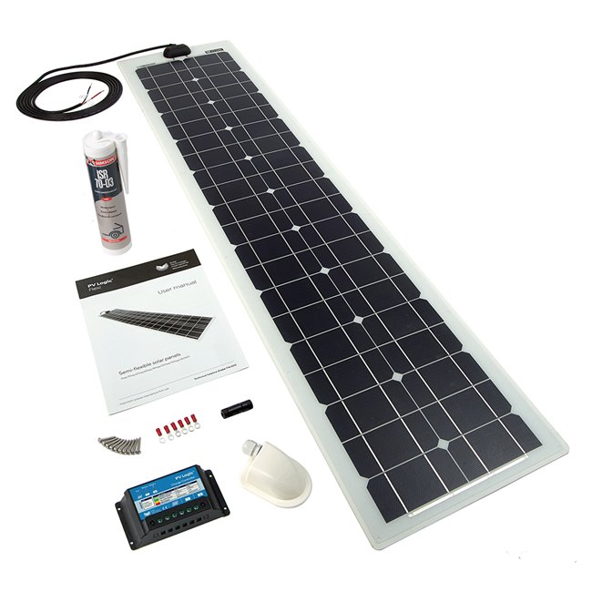 60w Flexi Solar Panel Roof and Deck Top Kit