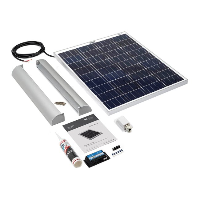 80w Rigid Solar Panel Roof and Deck Top Kit