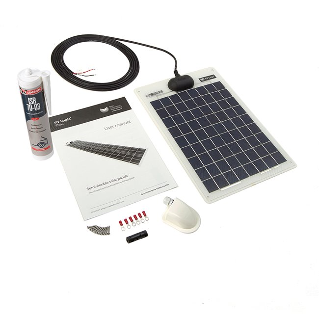 10w Flexi Solar Panel Roof and Deck Top Kit
