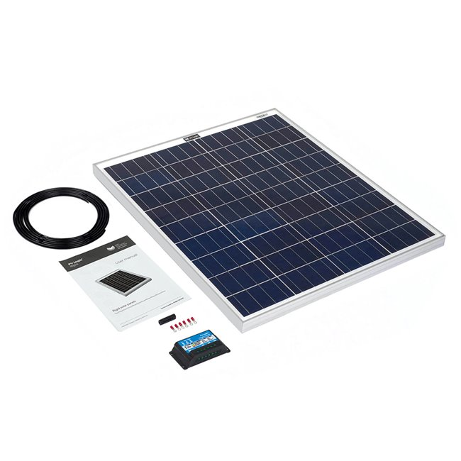 80w Rigid Solar Panel Kit