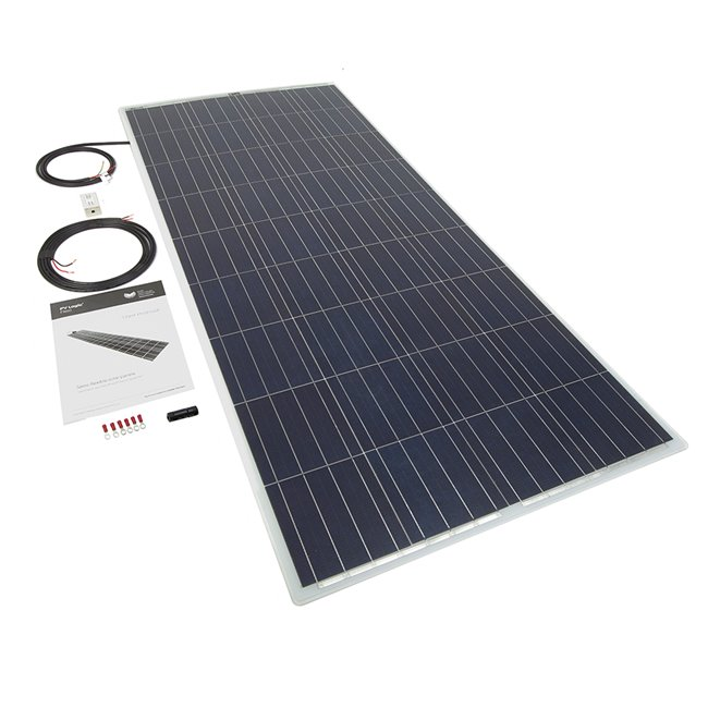 150w Flexi Solar Panel Kit - white rear exit