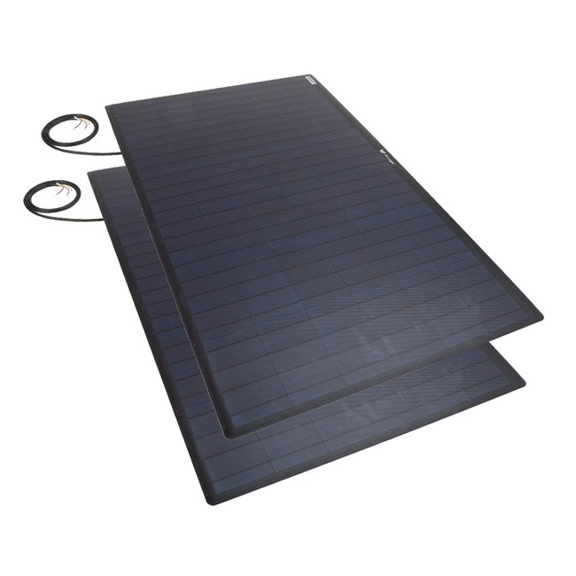 Bulk pack - 100w Flexi Solar Panel - black rear exit