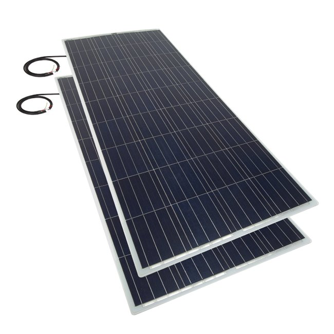 Bulk pack - 150w Flexi Solar Panel - white rear exit