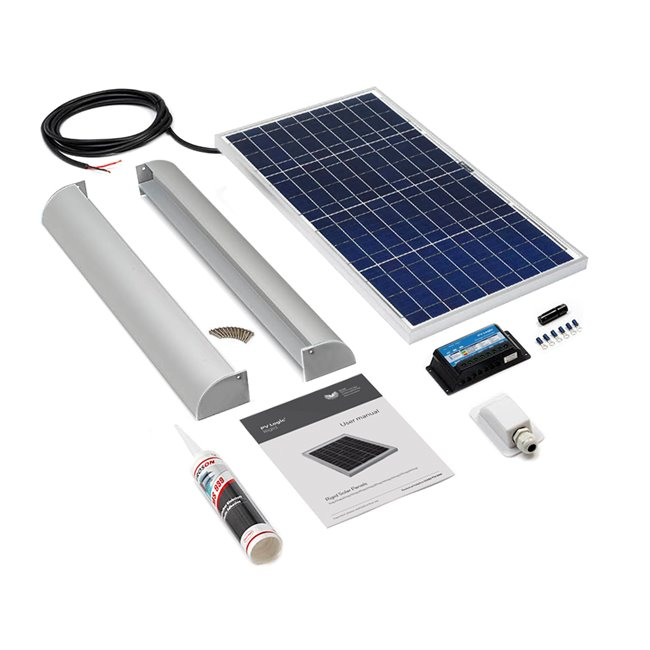 30w Rigid Solar Panel Roof and Deck Top Kit