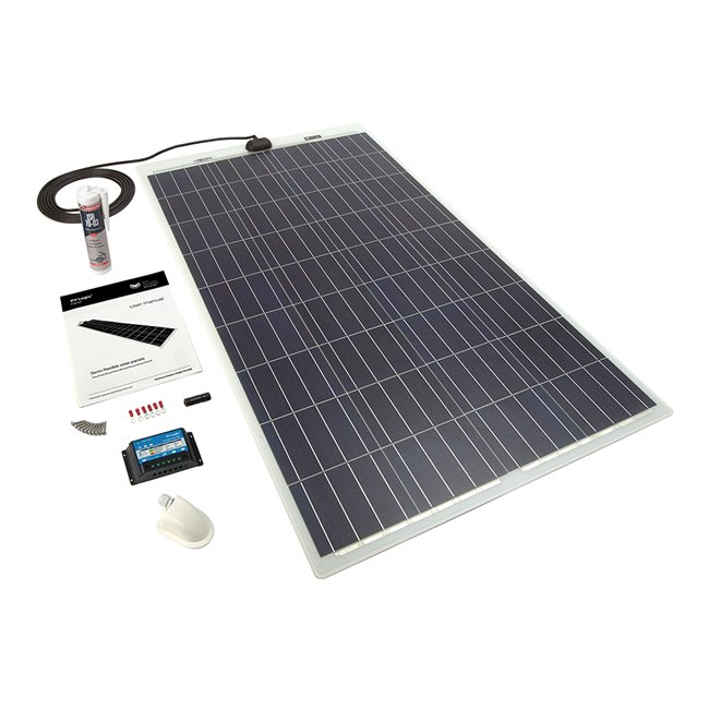 120w Flexi Solar Panel Roof and Deck Top Kit