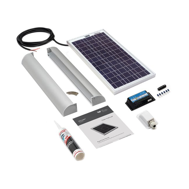 20w Rigid Solar Panel Roof and Deck Top Kit