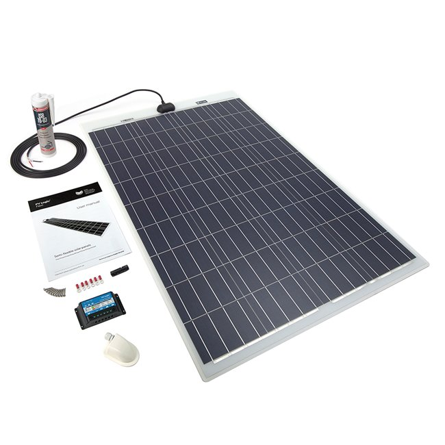 100w Flexi Solar Panel Roof and Deck Top Kit
