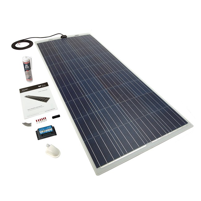 150w Flexi Solar Panel Roof and Deck Top Kit