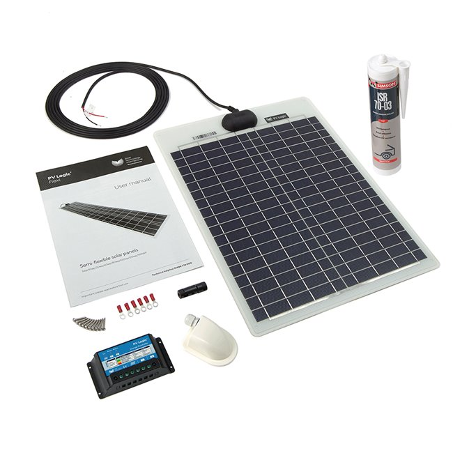 20w Flexi Solar Panel Roof and Deck Top Kit
