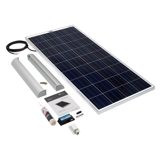 150w Rigid Solar Panel Roof and Deck Top Kit