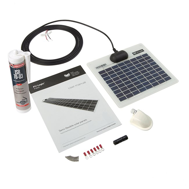 5w Flexi Solar Panel Roof and Deck Top Kit