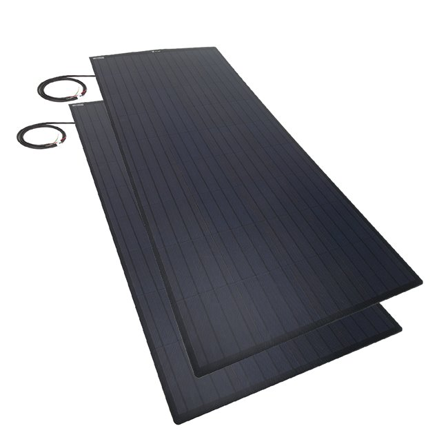Bulk pack - 150w Flexi Solar Panel - black rear exit