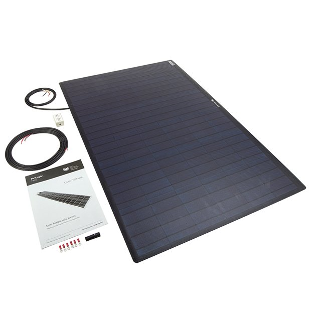 100w Flexi Solar Panel Kit - black rear exit
