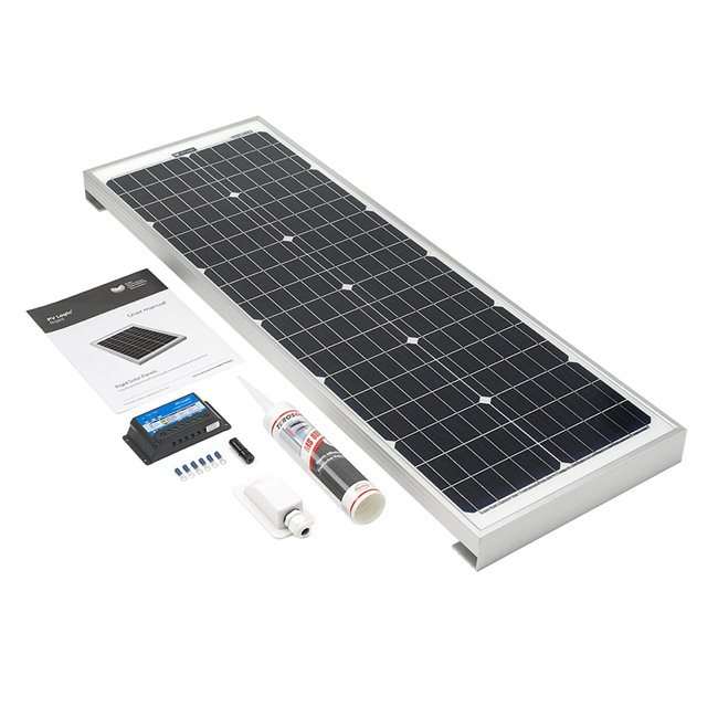 60w Rigid Solar Panel Roof and Deck Top Kit - rectangular R