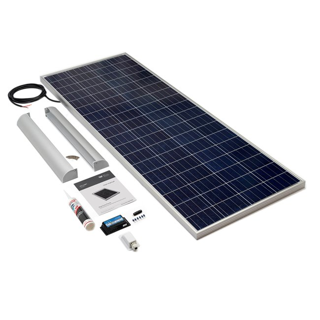 200w Rigid Solar Panel Roof and Deck Top Kit