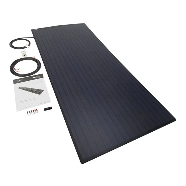 150w Flexi Solar Panel Kit - black rear exit