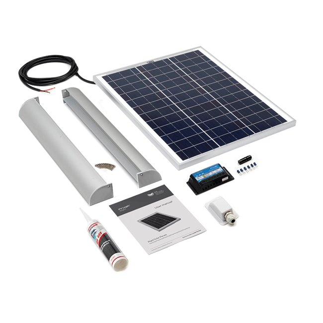 45w Rigid Solar Panel Roof and Deck Top Kit