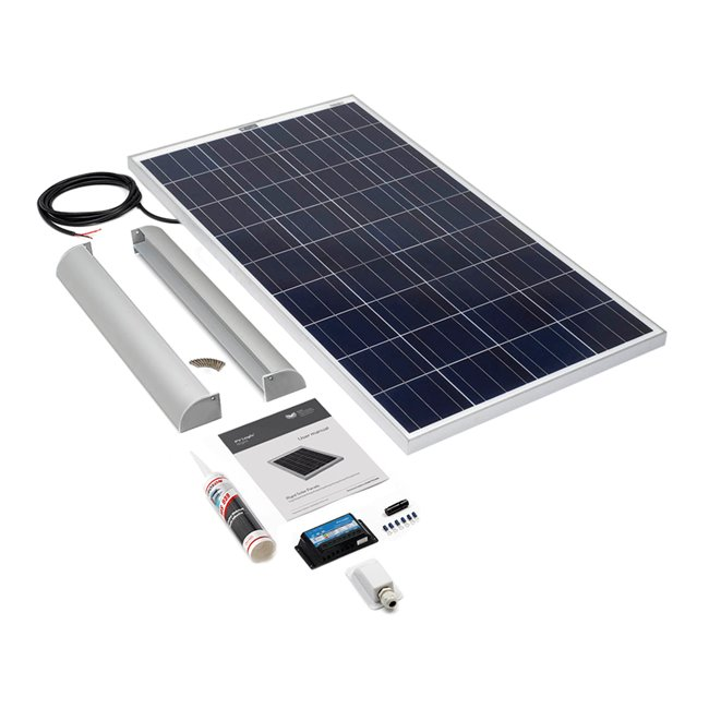120w Rigid Solar Panel Roof and Deck Top Kit