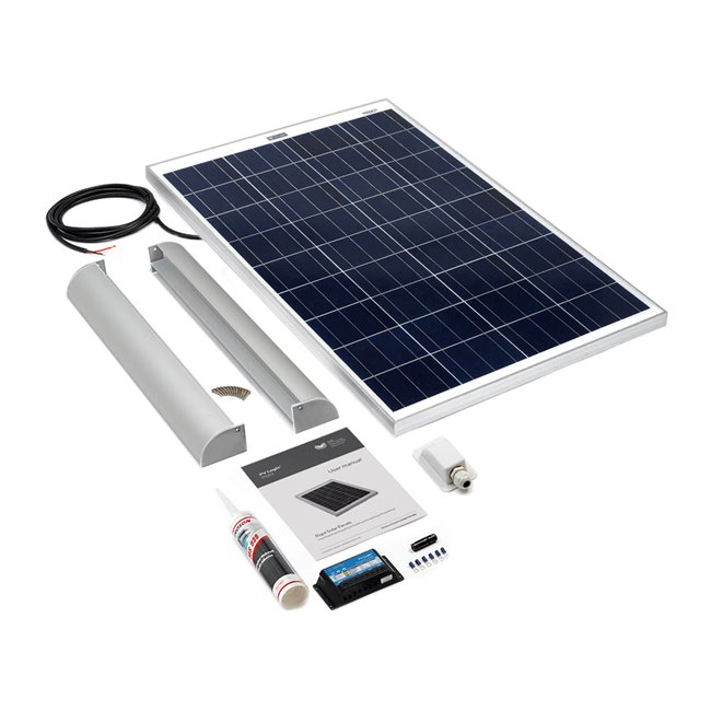 100w Rigid Solar Panel Roof and Deck Top Kit