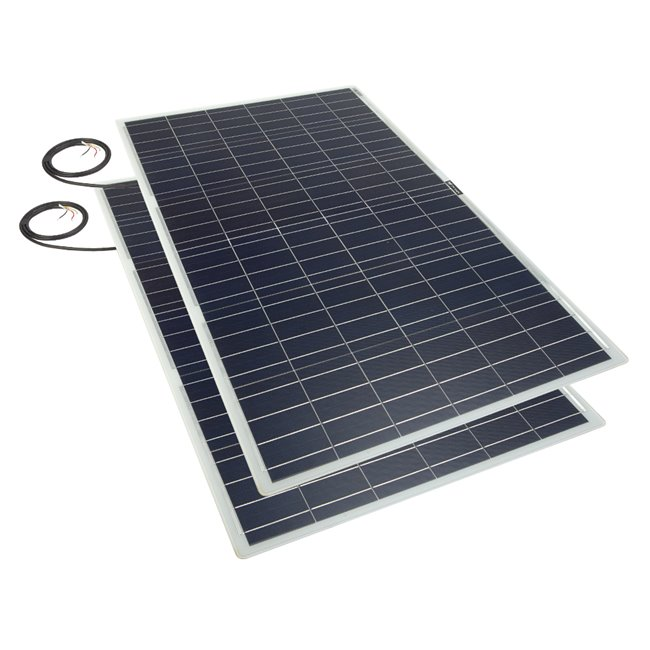 Bulk pack - 100w Flexi Solar Panel - white rear exit