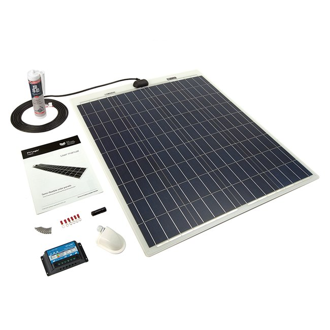 80w Flexi Solar Panel Roof and Deck Top Kit